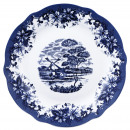 plate LEATHER 27CM PORCELAIN SKYE BLUE NEW