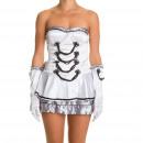 ingrosso Abbigliamento erotico:Costume Majorete Bianco