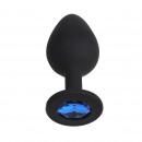 Anal Plug silicone nero M-Blue