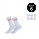 wholesale Fashion & Apparel: Set 6P NEW BALANCE white socks sz 43/47