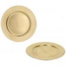 groothandel Huishouden & Keuken: Decoratief bord, goud, diameter circa 33 cm