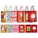 Großhandel Geschenkartikel & Papeterie: Geschenktüte Xmas 6-fach sortiert L
