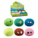 Großhandel Spielwaren: Knautschball Gesicht ca. 10cm Durchmesser, im Di
