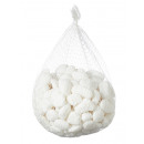 Dekoratív kövek, 1 kg, a hálóban, fehér