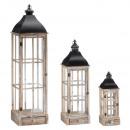 nagyker Lámpások: Klasszikus lámpa, 3-as készlet, természetes