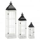 nagyker Lámpások: Klasszikus lámpa, 3-as készlet, fehér