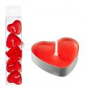 groothandel Home & Living: Theelichtje Heart , rood, set van 5