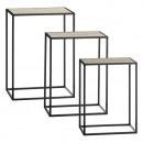 nagyker Bútorok: Oldalsó asztal, téglalap alakú, 3-as készlet