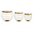 groothandel Meubels: Tafelset bolvormig, goud, set van 3