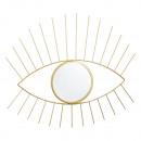 groothandel Spiegels: Wandspiegel oog, goud, ca. 47x45cm