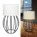 groothandel Lampen: Tafellamp stutten, bolvormig, wit, ca. 45cm hoog