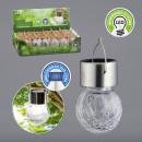 Großhandel Garten & Baumarkt: LED Solarleuchte Crackle , ca. 6x13cm