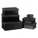 nagyker Ajándékok és papíráruk: Glam dobozos készlet, 6 darabos, fekete, ...