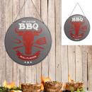 Metalen bord BBQ , 30cm doorsnee