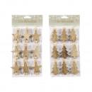 wholesale Dolls &Plush: Decorative clips Xmas , set of 9, 2- times assort