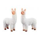 Lama, blanc, debout, 2- fois assorti petit