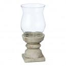 Lantern in terracotta glass, small, approx. 27cm h