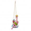 Großhandel Sport & Freizeit: Hänger Flamingo in Schimmring, ca. 20cm Höhe