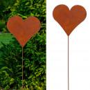 grossiste Installation electrique: Bouchon de jardin coeur, rouillé, S, env.35cm de h