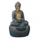 Fontana a LED, Buddha , rotondo, PER ESTERNO, alte