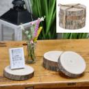 groothandel Tafellinnen: Onderzetter houten schijf, set van 4, ca. 12 cm do
