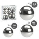 Palline decorative argento, 3 misure assortito , S
