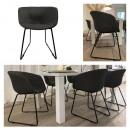 Großhandel Geschäftsausstattung: Stuhl Lounge, gepolstert, schwarz, mit ...