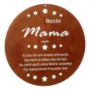 Schild Beste Mama, rusty, rund, ca. 35cm Durchmess