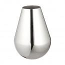 Váza, kúp, ezüst, fényes, kicsi, körülbelül 20 cm