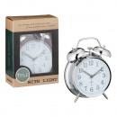 groothandel Klokken & wekkers: Wekker, zilver, quartz, ca. 12x16cm