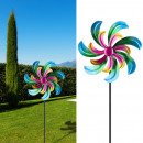 Cinétique d'éolienne spinner , double, coloré,