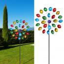grossiste Decoration et jardin et eclairage: Confettis moulin à vent, colorés, environ 168 cm d