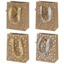 Bolsa de regalo de papel Kraft, NAVIDAD, 4- veces