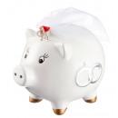 Großhandel Spardosen: Spardose wedding pig Braut , ca. 13cm