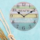Horloge murale ronde nostalgie bois, design 3, env