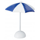 groothandel Kleding & Fashion: Miniparasol, blauw-wit, ca. 11,5 cm hoog