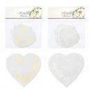 Confetti harten, set van 6, 2- maal geassorteerd ,