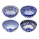 Bowl Balu-White, 4- times assorted , large, about