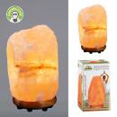 mayorista Alimentos y bebidas: Lámpara de sal del Himalaya, base de madera con re