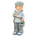 Tengeri fiú horgonnyal, kb. 51 cm magas