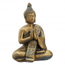 Buddha , shiny gold, sitting, S, approx. 10cm high
