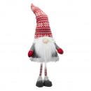 Gnome, avec nez LED, L, hauteur env.90cm