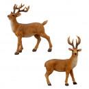 Jeleń stojący, brązowy, M, ok. 21cm