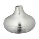 groothandel Bloemenpotten & vazen: Vaas, zilver, mat, klein, ca. 13cm hoog