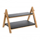 Serving rack slate with 2 levels, large, approx. 4