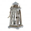 groothandel Windlichten & lantaarns: Lantaarn Maritim, naturel / grijs, groot, ca. 45cm