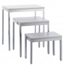 grossiste Fournitures de bureau equipement magasin: Table Design 2 , lot de 3, gris