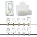 ingrosso Pendenti: Mini vaso in vetro con clip, decoro albero di Nata