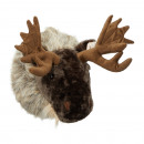 Testa di alce, peluche, circa 26x45 cm