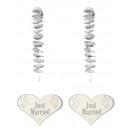 groothandel Woondecoratie: Spiraalvormige hanger Just Married , Set van ...